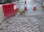 roadworks, cobbles